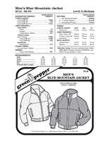 Mens Blue Mountain Jacket (514GP) Sewing Pattern
