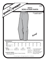Mens Wind & Rain Pants (128GP) Sewing Pattern