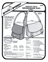 Oregon Trail Messenger Bag (545GP) Sewing Pattern