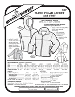 Plush Polar Jacket & Vest (507GP) Sewing Pattern