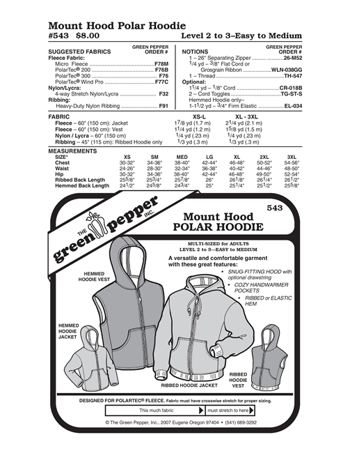 Cold Weather Hood for Children (519GP) Sewing Pattern