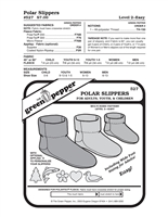 Polar Slippers - Child, Youth andAdult (527GP) Sewing Pattern