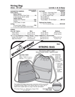 String Bag (541GP) Sewing Pattern