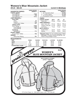 Womens Blue Mountain Jacket (513GP) Sewing Pattern
