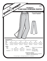 Womens Cascade Powder Pants (147GP) Sewing Pattern
