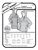 Womens Coast Range Anorak (125GP) Sewing Pattern