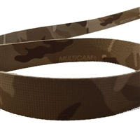 2 inch (50mm) Solution Dyed Nylon Webbing - MultiCam Arid Camouflage printed both sides