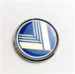 Miata vintage nose badge blue