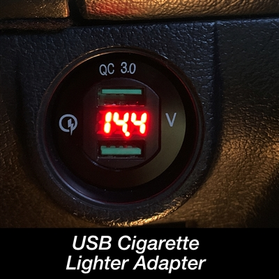 USB Cigarette Lighter Adapter with Voltage Display 1990-1997