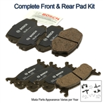 Complete Brake Kit: Front & Rear Brake Pad Kit 1990-1997 Maintenance Package