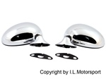 I.L. Motorsport Chrome Mirrors Set Miata MX-5 set of 2 Manual 1990 1997