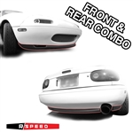 R-Package Lip Spoiler Set Miata MX-5 1990 - 1997 OEM Style (Front and Rear) By R Speed