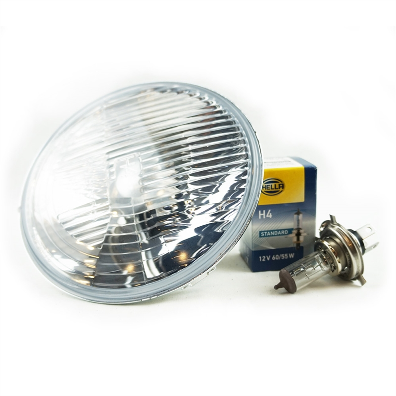 One Pair of Hella 12V Dipped Beam Headlight Lamps for Right Hand Drive