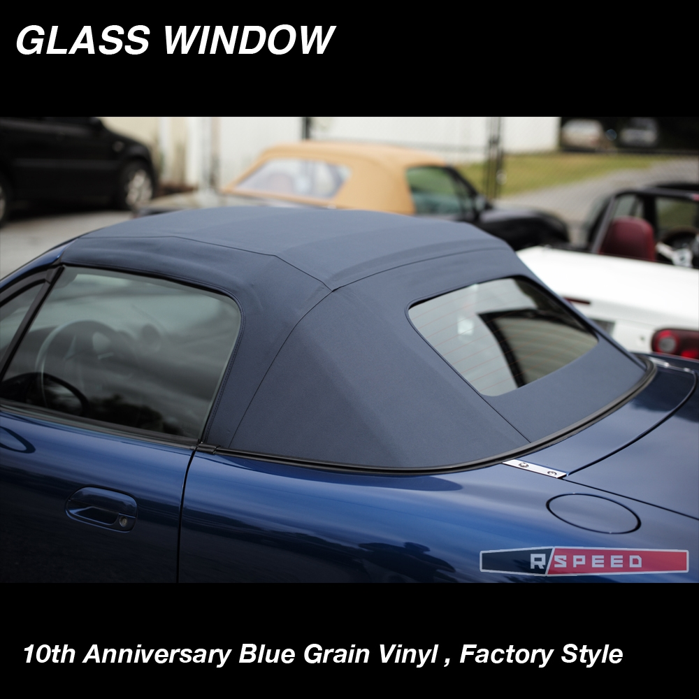 Blue 10ae Vinyl Robbins Convertible Top With Heated Defroster Factory Style Fits Miata 1990 2005