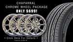SALE: CHROME Chaparral Wheels with Ventus V2 concept2 Tires