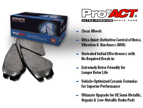 Akebono Brake Pad Set Miata Sport Package and Mazdaspeed Rear