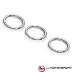 Mazda  MX-5 Air Vent Trim Set Chromed  3 Piece Fits 2016+  By IL Motorsports
