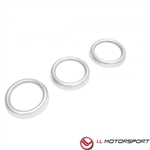 Mazda  MX-5 Air Vent Trim Set Matte Silver  3 Piece Fits 2016+ Design By I.L Motorsports