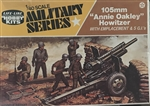 "LIFE LIKE 1/40  ""Annie Oakley"" Howitzer with Emplacement & 5 G.I.s"