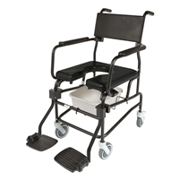 "ActiveAid Bath Safety Products | Top Brand Bathroom Safety | ActiveAid 600 Stainless Steel Rigid Shower Chair with 5"" casters"