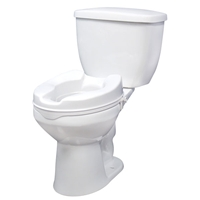 Top Brand Bathroom Safety | Raised Toilet Seat with Lock, 2""