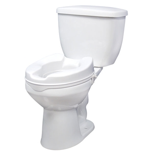 Top Brand Bathroom Safety | Raised Toilet Seat with Lock, 4""
