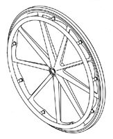 "Mariner Replacement Parts | 23"" Mariner Rear Wheel 