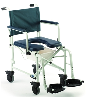 "Invacare Shower Chairs | Mariner Rehab Shower Commode Chair-18""W (5"" Casters)"