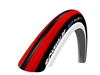 "Schwalbe Wheelchair Tires | 24"" x 1"" (25-540) Schwalbe Red/Black RightRun Tire"