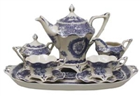 Blue & White Tea Set