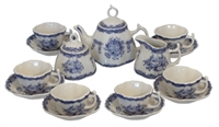 Small Blue & White Tea Set