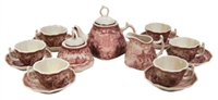 Small Red & White Tea Set