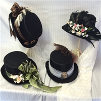 Decorated Ladies Top Hat