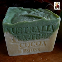 Aged Australian Tea Tree with Cocoa Butter Natural Artisan Soap Bar 
