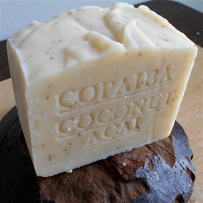Rainforest Copaiba Soap Aged Natural  Tree Leaves - Great For Eczema and Psoriasis, and Heals Damaged Skin 1 Pound