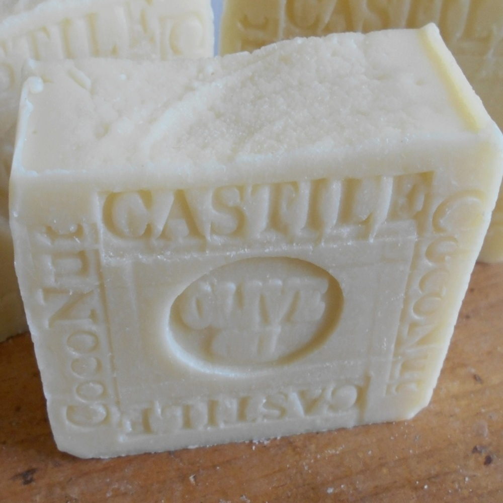 Castile Olive Organic Coconut Soap Bar Unscented - Handmade Natural
