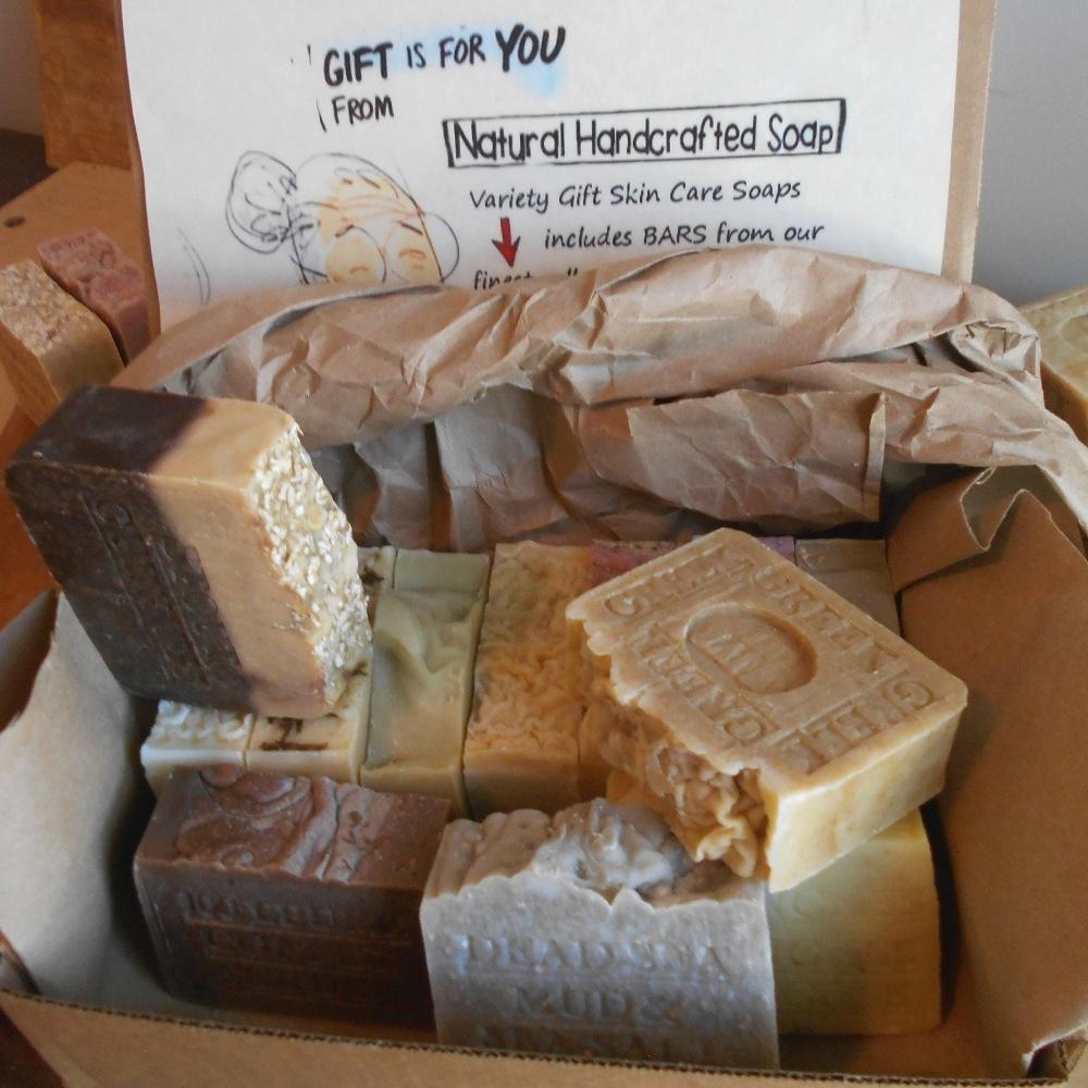 Handmade Gentlemens All Natural Artisan Individually Wrapped Soap Gift Set