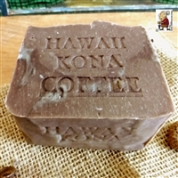 Large Age Bar  Handmade Artisan  Pure Hawaiian Kona Coffee and Coconut Milk Soap 1 3 oz.