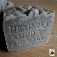 Aged Limited Artisan  Dead Sea Mud Soap with Dead Sea Salt (Unscented)