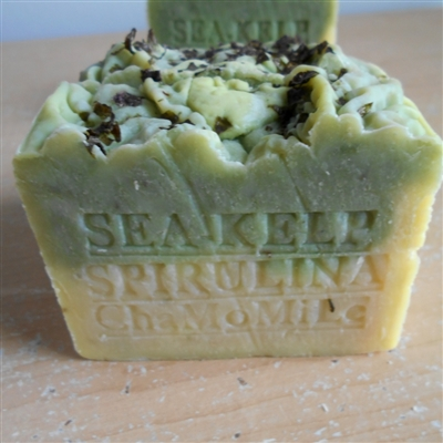 Aged Limited Edition / Organic Bar Soap with Sea Kelp Moss / Chamomile Herb and Cocoa Butter