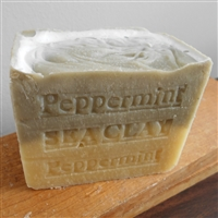 Peppermint With Sea Clay  Soap suitable for use on oily skin, acne and blackheads.