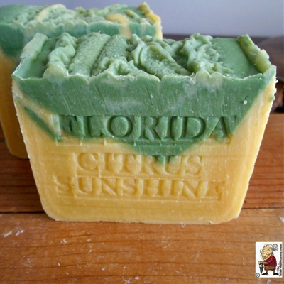 Natural Handmade Citrus Artisan Soap with Mango Butter and Tangerines,  All Natural Skin Care Soap  Orange And Lime