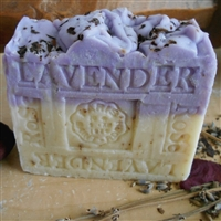 Natural Provence French Lavender with Crushed Rose Petals Soap