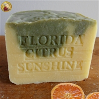 Artisan ( Large Aged Bar Soap ) Handmade Florida - Citrus Sunshine with Mango Butter Soap