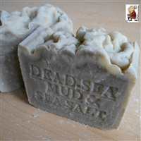 Natural Handmade  Dead Sea Mud Soap With Dead Sea Salt (Unscented) Soap  Handcrafted