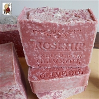 Handcrafted Soap Brazilian Rosehip Soap and Extra Virgin Olive Oil - with Mediterranean Sea Salt -Unscented Vegan