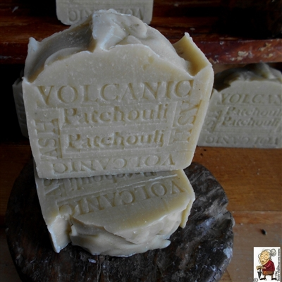 Volcanic Ash Natural Soap Bar With Shea Butter and scented with Patchouli ,Natural Skin Care Handcrafted Soap  -
