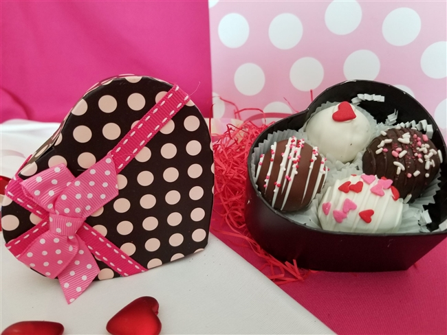 Polka Dot Heart Gift -Three 4 pc. boxes