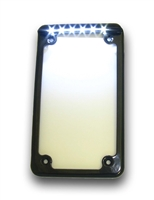 Complete black 3 inch vertical motorcycle frame. 6 HID style LEDs for bright output