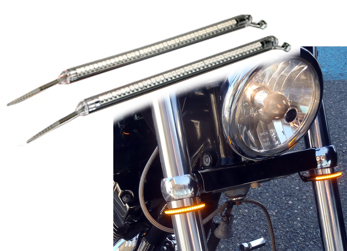 Motorcycle Fork Wraparound Led Tube Turn Signals Forkerz Larger Photo Email A Friend